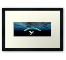 The Secret of the Rainbow Unicorn Framed Print