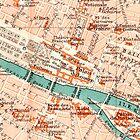 Paris Vintage Map iPhone Case by Mary Grekos