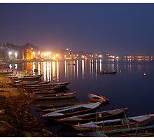 Ganga at Night Photographic Print