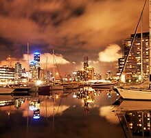 Melbourne Docklands Reflections by Danielle  Miner