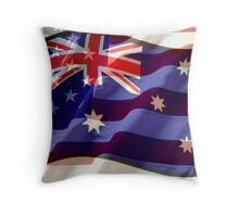 Australian - American Alliance Throw Pillow
