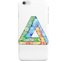 Penrose Triangle and the Primary Colours iPhone Case/Skin