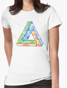 Penrose Triangle and the Primary Colours Womens Fitted T-Shirt