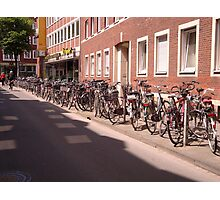 Munster - The bicycle capital of Germany Photographic Print