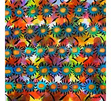 Rainbow Flower Pattern Photographic Print
