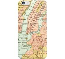 New York Vintage Map iPhone Case iPhone Case/Skin