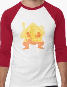 t shirt DBZ- Grunge- Training - Tortue génial  Men's Baseball ¾ T-Shirt