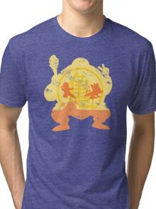 t shirt DBZ- Grunge- Training - Tortue génial  Tri-blend T-Shirt