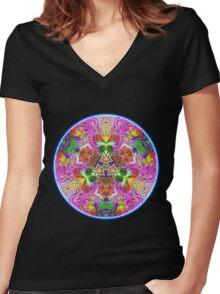 Aminoboogie Women's Fitted V-Neck T-Shirt
