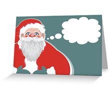 wishes from santa Greeting Card