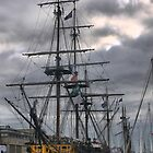 Spars at St.Malo  (3) by Larry Lingard-Davis