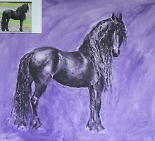 Horse Of Royalty - work in progress by louisegreen