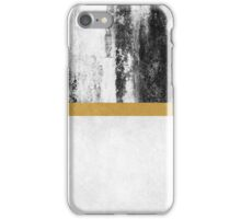 Golden Line / White iPhone Case/Skin