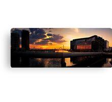 Sunset, Docklands, Melbourne. Canvas Print