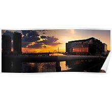 Sunset, Docklands, Melbourne. Poster