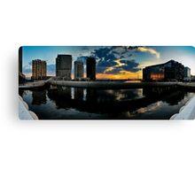 Webb Bridge Sunset Panorama Canvas Print