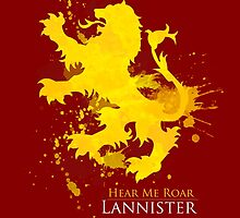 House Lannister Art Print by paperheroes