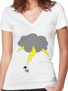 RAIN MAN Women's Fitted V-Neck T-Shirt