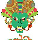 Yaka: Oriental Devil in Psychedelic Colors  by nidahasa