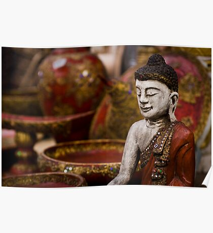 Buddha Statuette - Thailand Poster