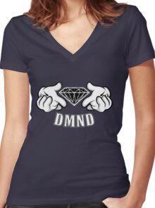 Diamond Hands DMND Women's Fitted V-Neck T-Shirt