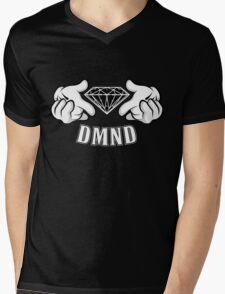 Diamond Hands DMND Mens V-Neck T-Shirt