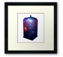 Police Box Space Framed Print