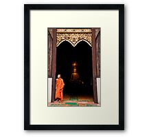 Buddha and the Monk - Thailand Framed Print