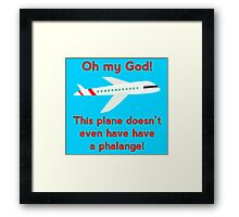 This plane doesn't even have a phalange! Framed Print