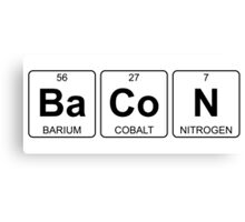 Ba Co N - Bacon - Periodic Table - Chemistry Canvas Print