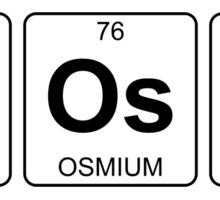 B Os S - Boss - Periodic Table - Chemistry Sticker