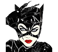 Catwoman art Photographic Print