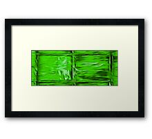 Simply Green Framed Print