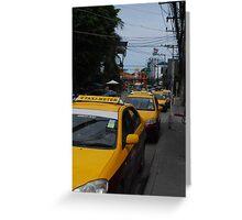 Taxi in Koh Samui Greeting Card