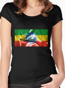 Ethiopia Flag Women's Fitted Scoop T-Shirt