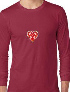 Folk heart 1 centre Long Sleeve T-Shirt