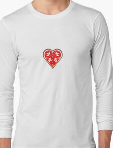 Folk heart 1 centre Long Sleeve T-Shirt
