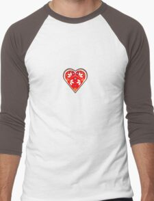 Folk heart 1 centre Men's Baseball ¾ T-Shirt