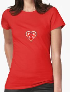 Folk heart 1 centre Womens Fitted T-Shirt