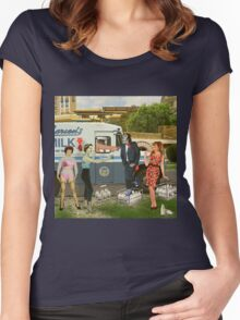 The Black Milkman Women's Fitted Scoop T-Shirt