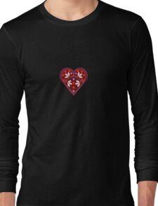 Folk heart 2 centre Long Sleeve T-Shirt