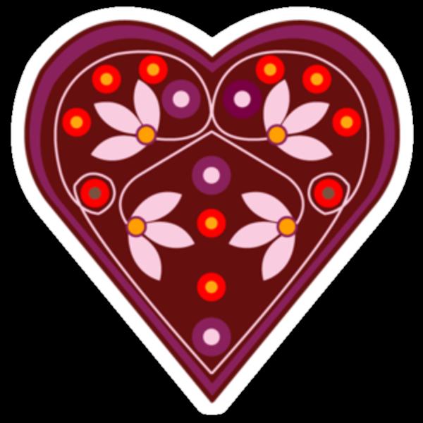 Folk heart 2 centre by venitakidwai1