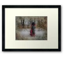 Walking In Winter Wonderland Framed Print