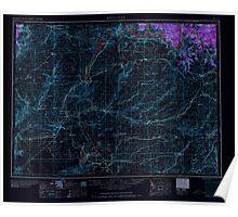 USGS Topo Map Washington State WA Ritzville 243473 1965 250000 Inverted Poster