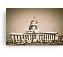 Utah State Capital Canvas Print
