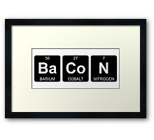 Ba Co N - Bacon - Periodic Table - Chemistry Framed Print