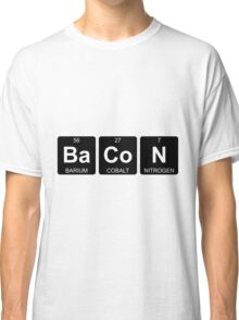 Ba Co N - Bacon - Periodic Table - Chemistry Classic T-Shirt