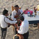 Mariachis counting money after playing - contando el diner despues de la musica; Puerto Vallarta, Mexico by PtoVallartaMex