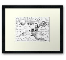 Occupy Solitude editorial cartoon Framed Print