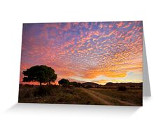 October Sky Greeting Card
